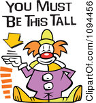 1094456-Clipart-Carnival-Clown-Standing-By-A-Height-Sign-With-You-Must-Be-This-Tall-Text-Royalty-Free-Vector-Illustration